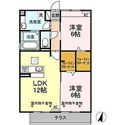 Recente和田A[1階]の間取り