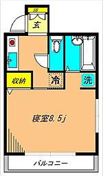 松林堂SK第三マンション[2階]の間取り