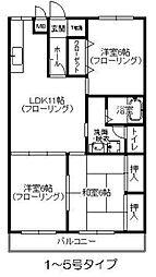 エクセルガーデン[4階]の間取り