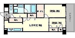 フローラル桃山台[4階]の間取り