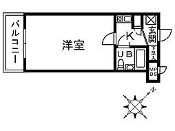 神奈川県相模原市中央区千代田1丁目の賃貸マンションの間取り
