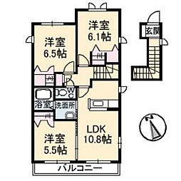 メゾンスリーズK[2階]の間取り