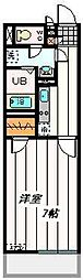 東武野田線 大宮公園駅 徒歩7分の賃貸マンション 4階1Kの間取り