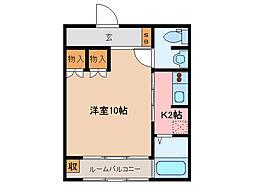 レトア亀山[1階]の間取り
