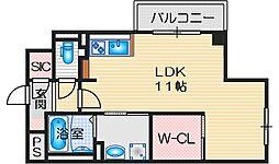ア・リベルテ 5階ワンルームの間取り