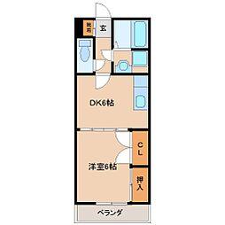 サンライズカワサキ B棟[2階]の間取り