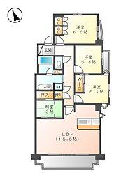 レジディア徳川[6階]の間取り