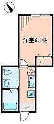 東京都八王子市元本郷町4丁目の賃貸アパートの間取り