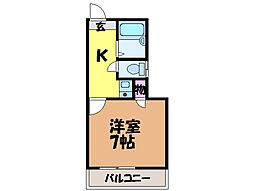 愛媛県松山市桑原3丁目の賃貸アパートの間取り