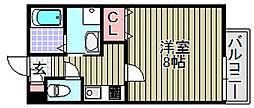 (仮称)泉大津市我孫子学生マン[307号室]の間取り