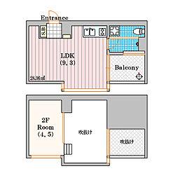 是空 NAMBA NISHI[9階]の間取り