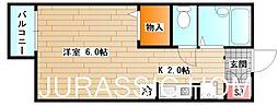大阪府堺市北区百舌鳥梅北町4丁の賃貸アパートの間取り