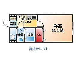 リガヤ北松戸[101号室]の間取り