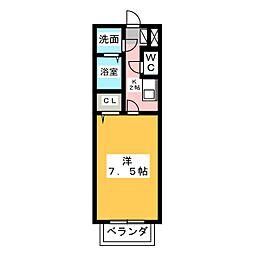 愛知県名古屋市中川区細米町1の賃貸アパートの間取り