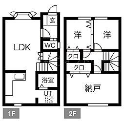 ルー 1階3LDKの間取り