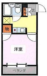 神奈川県相模原市中央区淵野辺本町2丁目の賃貸マンションの間取り