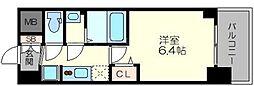 プレサンス新大阪イオリア 8階1Kの間取り