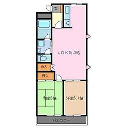 メゾンベルセーヌ A棟[2階]の間取り