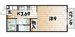 福岡県北九州市戸畑区一枝4丁目の賃貸マンションの間取り