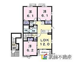アベニューM II番館 I[2階]の間取り