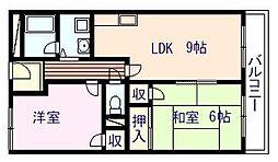 ハイツKEYAKI[303号室]の間取り