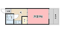 セジュール花山[105号室]の間取り