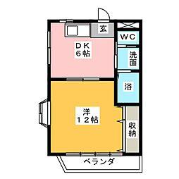 SB福岡[3階]の間取り