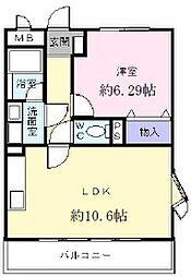 大阪府河内長野市松ケ丘東町の賃貸アパートの間取り