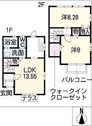 [タウンハウス] 愛知県岡崎市江口1丁目 の賃貸【/】の間取り