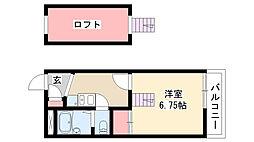 愛知県名古屋市瑞穂区洲雲町1丁目の賃貸アパートの間取り