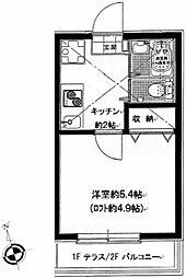 神奈川県横浜市保土ケ谷区坂本町の賃貸アパートの間取り