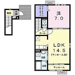 ブリーゼ霞台II[2階]の間取り
