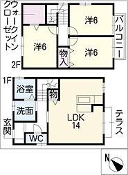 [一戸建] 三重県四日市市別山1丁目 の賃貸【/】の間取り