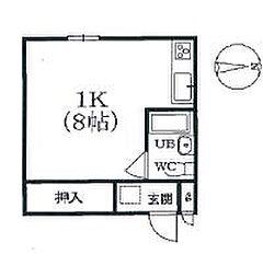 コーポ竹の子[2階]の間取り