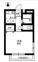 神奈川県大和市渋谷1丁目の賃貸アパートの間取り