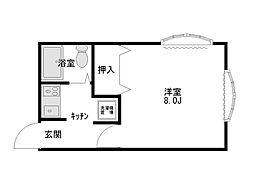 ヴェルディOGASAWARA[201号室]の間取り