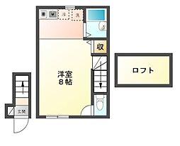 神奈川県川崎市宮前区有馬8丁目の賃貸アパートの間取り