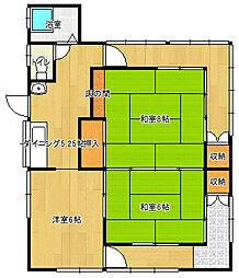 [一戸建] 愛媛県新居浜市土橋1丁目 の賃貸【/】の間取り