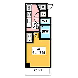 クレストステージ名駅[5階]の間取り
