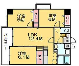 スカイシャトレ柚須[7階]の間取り