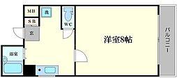 レフィナード鶴翁[7階]の間取り