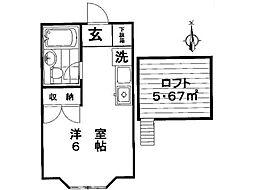 ユートピアハイツ[1階]の間取り