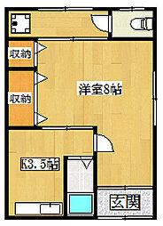 大東市錦町貸アパート[2階]の間取り