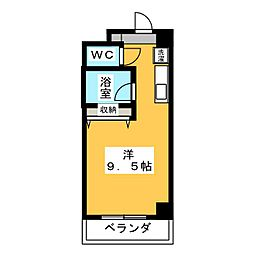 Espoir板屋[3階]の間取り