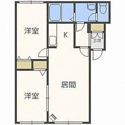 北海道札幌市中央区南六条西22の賃貸マンションの間取り