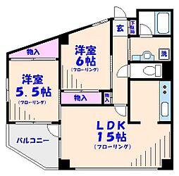 ル・クラブ[2階]の間取り