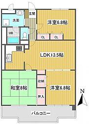 プリメール石神井[6階]の間取り