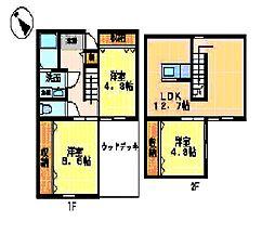 [一戸建] 岐阜県岐阜市東川手1丁目 の賃貸【/】の間取り
