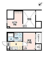 愛知県名古屋市緑区大高町字上塩田の賃貸アパートの間取り