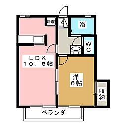 メゾンド・セナ[1階]の間取り